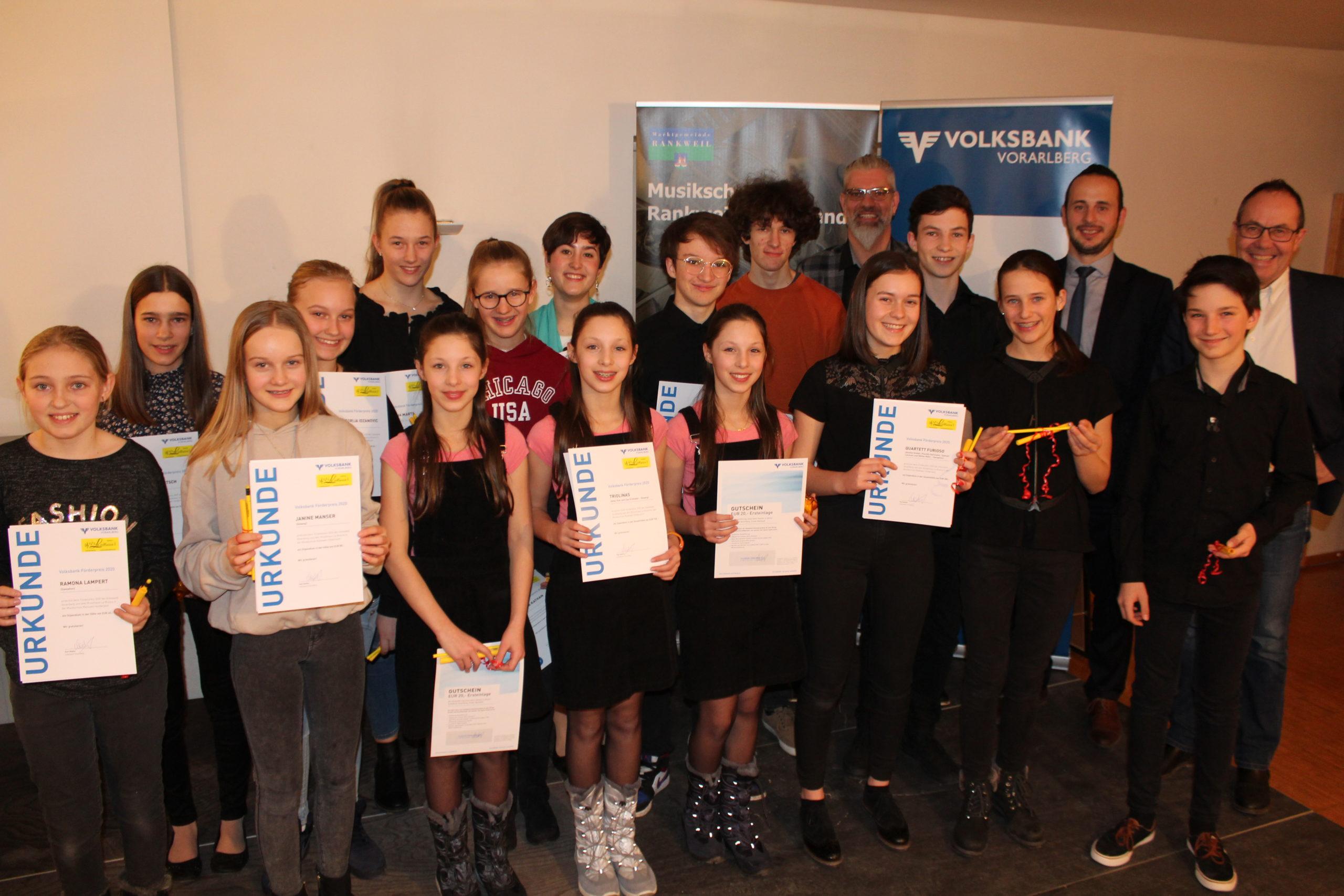 14. Förderpreis Musikschule Rankweil-Vorderland