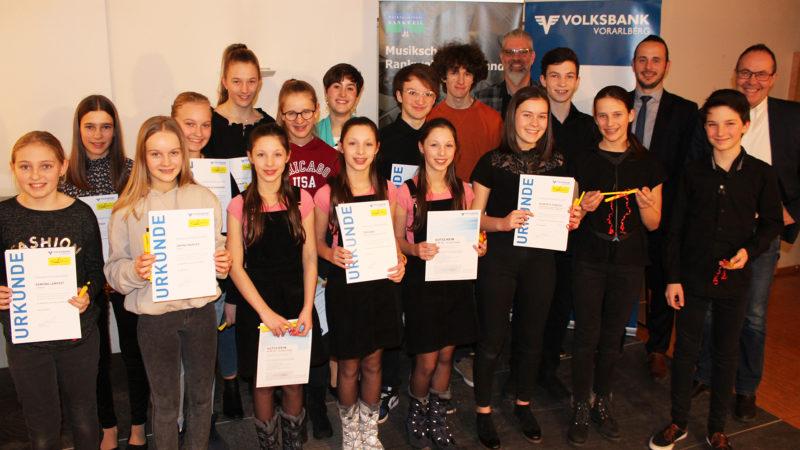 Musikschule Rankweil-Vorderland fördert Jugend