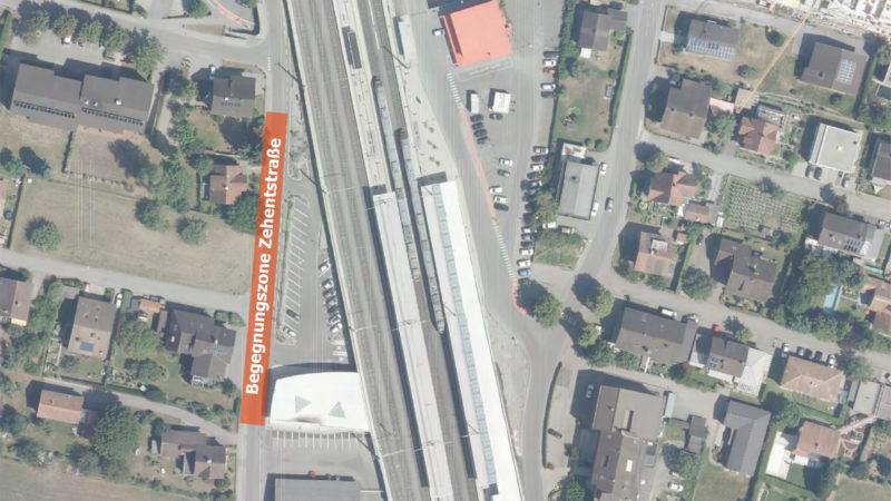 Weitere Begegnungszone am Bahnhof Rankweil