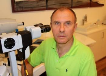 Optometrist Helmut Bucher