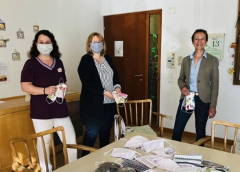 DGKP des KPV Tosters, Frau Katja Pfleger und Heidi Lampert, GF des MOHI Feldkirch, Frau Mag. Margot Insam-Gstach