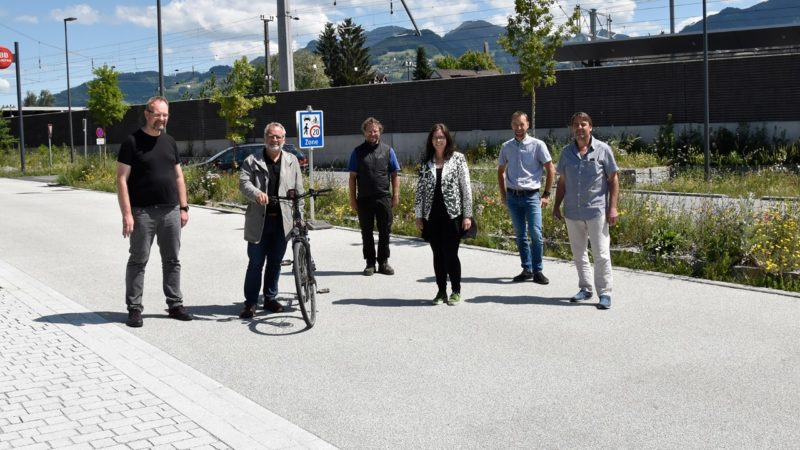 Rankweiler Zehentstraße ist ab sofort Begegnungszone