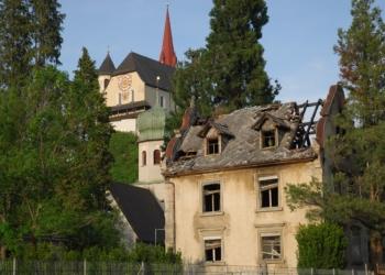 Die Grundstruktur der Häusle-Villa in Rankweil bleibt trotz Großbrand erhalten. (© Marktgemeinde Rankweil)