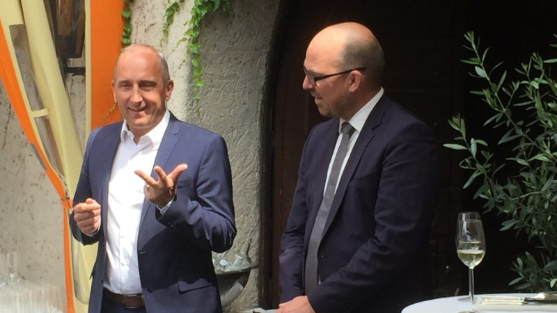 Regierungschef Adrian Hasler trifft Bundeskanzler Sebastian Kurz in Schaanwald