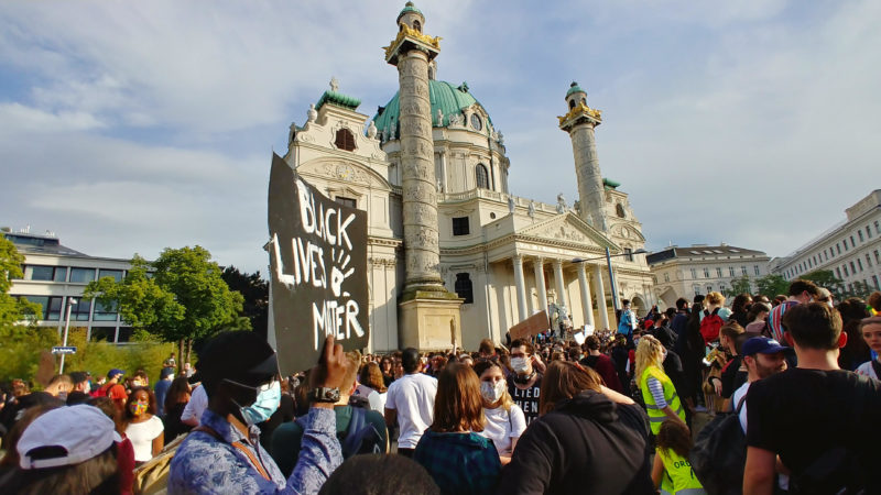 Black Lives Matter: 50.000 Teilnehmer bei Demo in Wien
