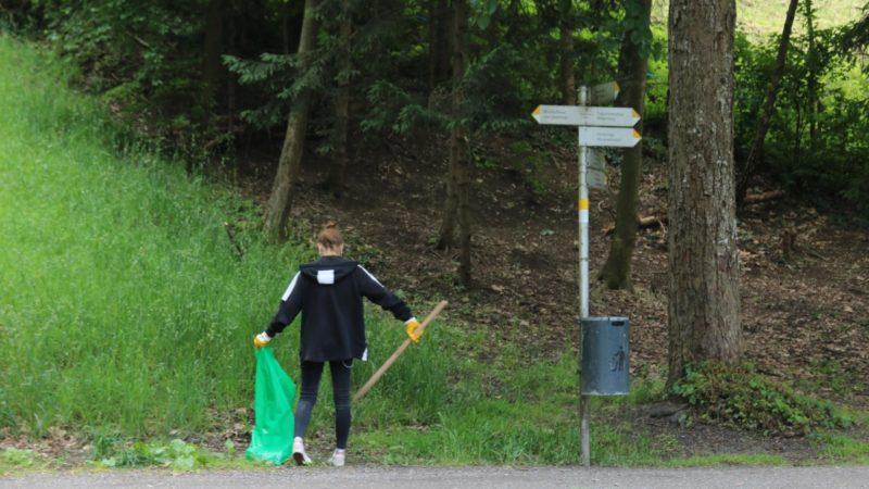 Engagierte Jugendliche sammelten Müll in Feldkirch