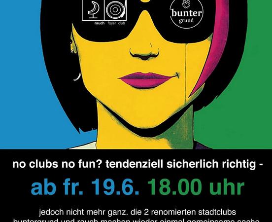 BUNTER RAUCH presents: Leise Frischluftclubkultur