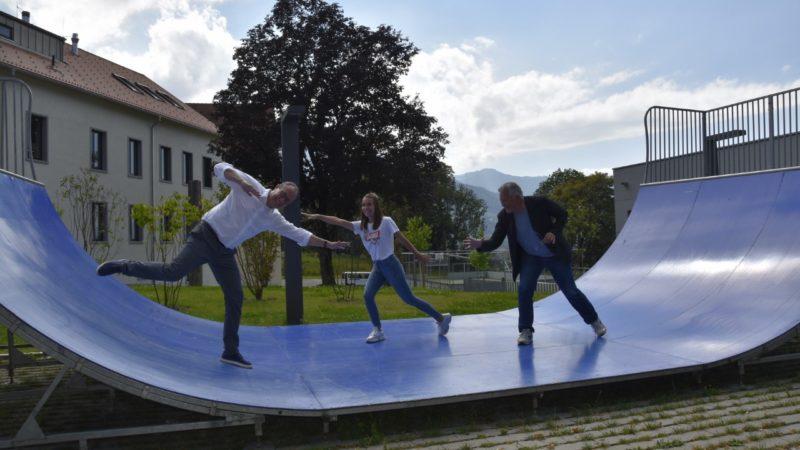 Rankweiler Skateanlage ging an Paedakoop Schlins