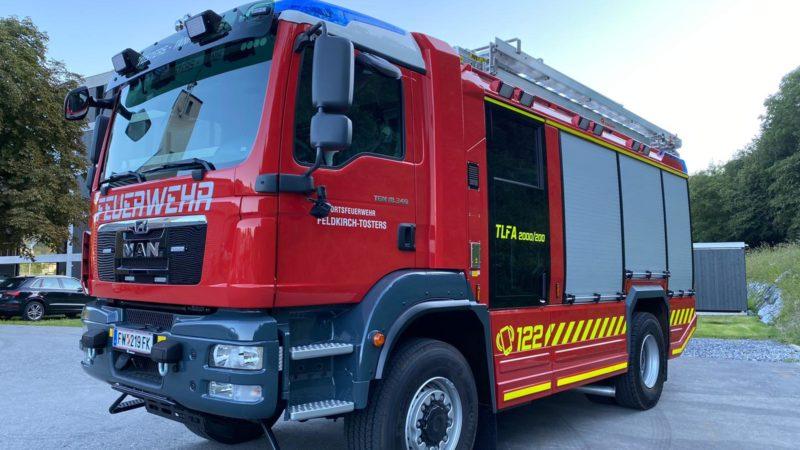Neues Tanklöschfahrzeug für die Ortsfeuerwehr Feldkirch-Tosters