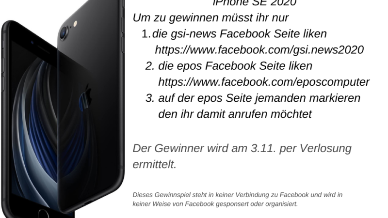 iPhone SE 2020 Gewinnspiel