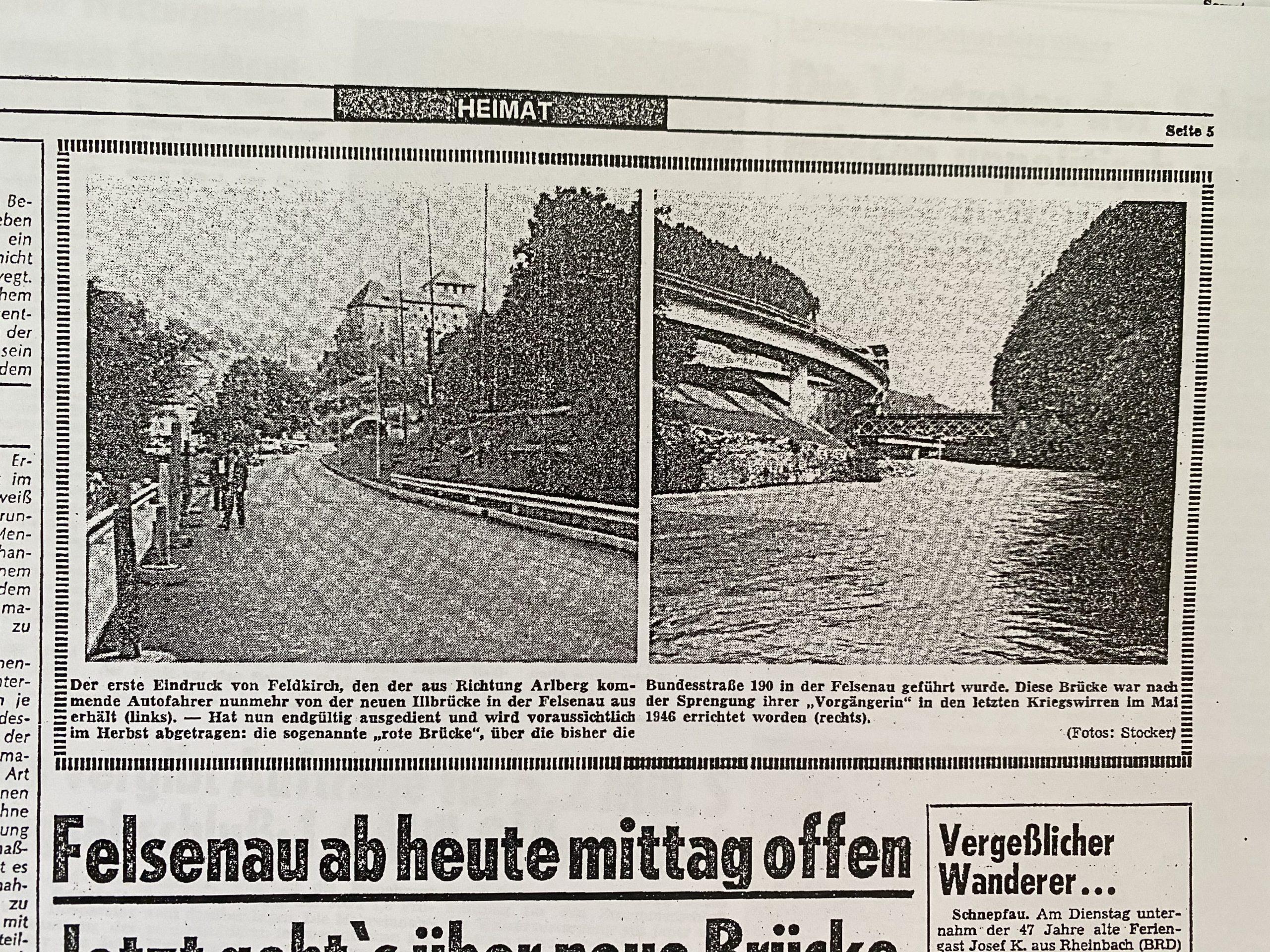 Aus alten Zeiten: Felsenau vor 40 Jahren