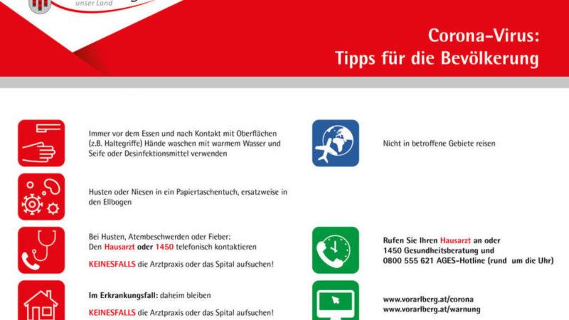 3394 neue Corona Fälle in 24 Stunden in Österreich, 258 in Vorarlberg