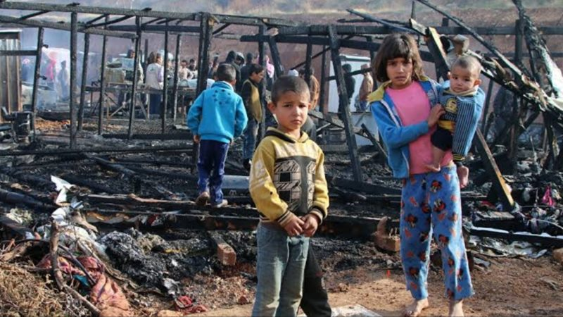 Feuer im Flüchtlingslager im Libanon – Hunderte Syrer obdachlos