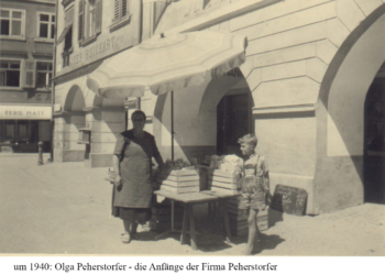 ca. 1940, Markt