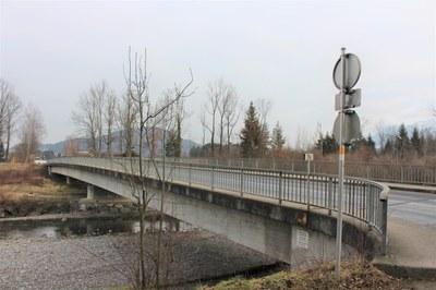 Totalsperre und Sanierung der Frutzbrücke in Koblach