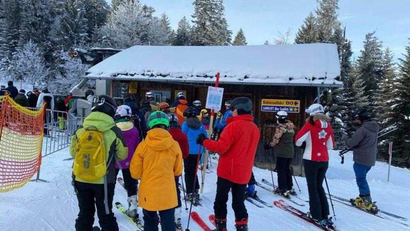 Skigebiet Bödele im Corona Sicherheitstest durchgefallen