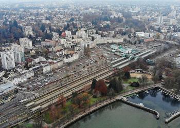 Bregenz Stadt Vogelperspektive