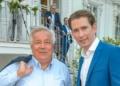 1. Kanzlerfest von Sebastian Kurz, Palais Schönburg, Wien, 20.6.2018, Wolfgang FELLNER, Sebastian KURZ  1. Kanzlerfest von ÖVP-?Chef Sebastian KURZ