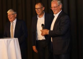 Präsident Manfred Morscher, Bgm. Walter Gohm und Landtagspräsident Harald Sonderegger eröffnen das 7. Museum